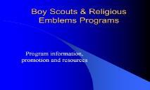 Boy Scouts Religious Awards PowerPoint Presentation