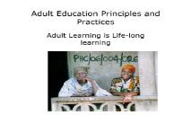 Adult Education Principles and Practices PowerPoint Presentation