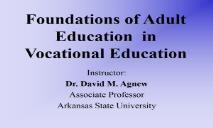 Introduction to Adult Education PowerPoint Presentation