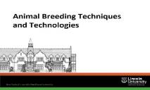 Animal Breeding Techniques and Technologies PowerPoint Presentation