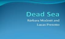 Dead Sea Programa de Linguas Estrangeiras PowerPoint Presentation