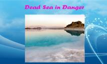Dead Sea in Danger PowerPoint Presentation