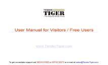 User Manual Visitors Tender Tenders Tender News PowerPoint Presentation