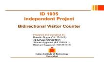 Independent ProjectBidirectional Visitor Counter PowerPoint Presentation