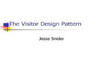 The Visitor Design Pattern PowerPoint Presentation