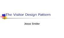 The Visitor Design Pattern PowerPoint Presentation