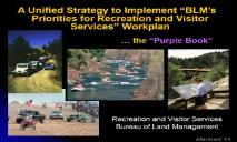 RECREATION AND VISITOR SERVICES BLM PowerPoint Presentation