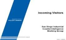 Incoming Visitors San Diego Industrial Security PowerPoint Presentation