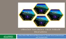 Vermont EMS Ebola Virus Disease Education PowerPoint Presentation