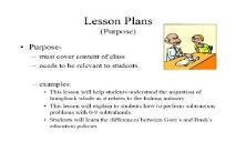 Lesson Plans Purpose Winthrop University PowerPoint Presentation