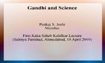 Mahatma Gandhi PowerPoint Presentation