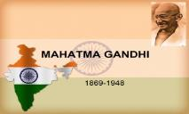 Mahatma Gandhi Ji PowerPoint Presentation