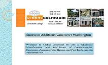 Sunroom Additions Vancouver Washington PowerPoint Presentation