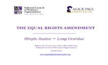 The Equal Rights Amendment PowerPoint Presentation
