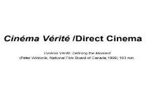 Cinema Verite Direct Cinema PowerPoint Presentation