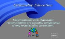 Citizenship Education PowerPoint Presentation