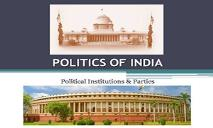 Politics of India PowerPoint Presentation