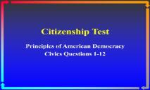 Citizenship Test EL Civics PowerPoint Presentation