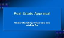 Real Estate Appraisal PowerPoint Presentation