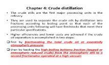 Crude distillation PowerPoint Presentation