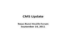 CMS Update PowerPoint Presentation