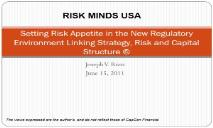 Risk Appetite The Link Between Strategy and Capital Structure PowerPoint Presentation
