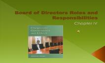 Board of Directors Roles and Responsibilities PowerPoint Presentation