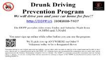 Drunk driving prevention program PowerPoint Presentation