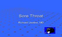 Sore Throat Medicine PowerPoint Presentation