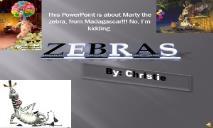 A Zebras PowerPoint Presentation