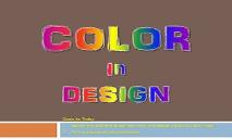 Color in Design PowerPoint Presentation