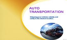 Auto Shipping PowerPoint Presentation