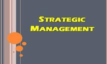 introduction to Strategic Management PowerPoint Presentation