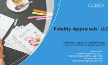 Fidelity Appraisals, LLC - Commercial Appraisal PowerPoint Presentation