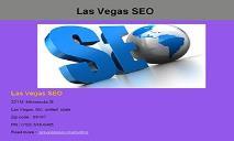Las Vegas SEO - Searh Engine Optimization PowerPoint Presentation