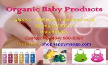 Organic Baby Products-Natural Kid PowerPoint Presentation