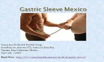 Gastric Sleeve Surgery Mexico - Service weight Loss PowerPoint Presentation