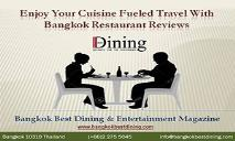Enjoy Your Cuisine Fueled Travel With Bangkok Restaurant Reviews PowerPoint Presentation