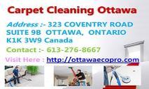 Eco-Pro - Ottawa Carpet Cleaning PowerPoint Presentation