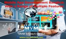 Mobile App Development Bangkok With a Range of Multiple Features PowerPoint Presentation