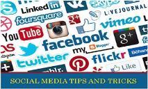 Social Media Tips and  Tricks PowerPoint Presentation