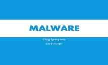 Malware PowerPoint Presentation