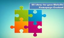 20 Ideas For Your Website Homepage Content PowerPoint Presentation