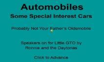 Automobiles PowerPoint Presentation