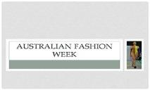 Australian Fashion Week PowerPoint Presentation