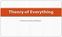 Theory of Everything PowerPoint Presentation
