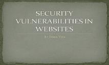 Website Vulnerabilities PowerPoint Presentation