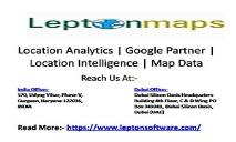 Location Analytics Intelligence | Google Partner | 3D geodata  | Map Data | Google Maps Reseller PowerPoint Presentation