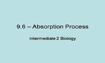 Absorption of Food PowerPoint Presentation