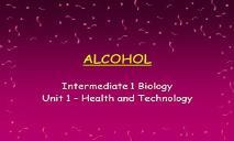 Alcohol PowerPoint Presentation